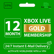 Xbox Live Gold 12 Month Membership Code - Xbox One   Series   360   VPN Activate