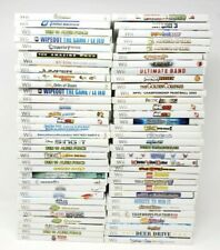 66 Nintendo Wii Video Game Lot UNTESTED AS-IS