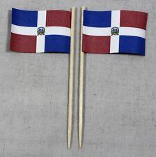 Party-Picker Dominikanische Republik 50 Profiqualität Dekopicker Papierfähnchen