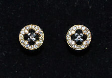 P5 Handmade Solid 18k Gold & CZ Circle Earrings Studs - Gift