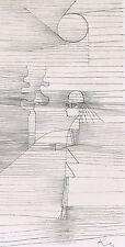 Paul Klee Encadrée abstraite plaque signé collotype girl in the Sun