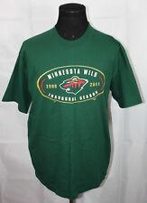 2000 Majestic Minnesota Wild Inaugural Season Green Tee Shirt L