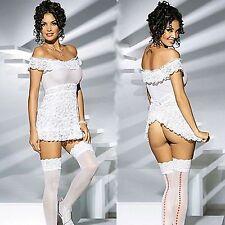 sex lingerie bianco baby doll corsetto trasparente perizoma tanga trasparente