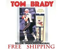 Tom Brady ROOKIE Ticket 2000 Playoff Contenders /100 REPRINT RC Card AUTO RP