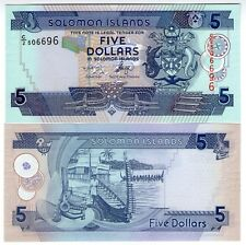 **   SALOMON  Islands     5  dollars  2011   p-26c    UNC   **