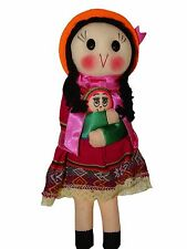 "#4088 Peruvian Traditional Dressed Doll 9"" Artisan Made Fair Trade Rag Costume"