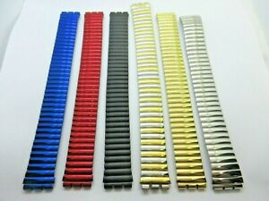 Replacement Expanding Stainless Steel 17mm Swatch Watch Strap 6 Colours