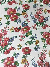 Lovely Floral Vintage Fabric 1950s? 1.5mtrs