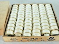 AMERICAN THREAD 4 CORD  WHITE INTRINSIC DISC CARDBOARD BOBBINS 68 IN BOX
