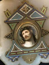 Cloisonné Albâtre Miniature Peinture Porcelaine Antique Painting 19th Porcelain