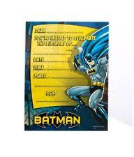 Batman Birthday Party Supplies Invitations Invites Pack 8