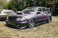 Subaru Forester Gloss 181 cm Side Steps Side JUPE Extensions Aero Performance V6