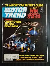 Motor Trend April 1979 Mustang vs BMW 320i  Jeep Wagoneer  Chevrolet Monte Carlo