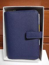 Agenda organizer portafogli  PTM Milano 15 X 11 cm  blu made in Italy qualità