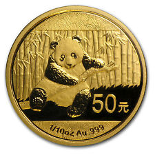 2014 1/10 oz Gold Chinese Panda Coin - Sealed in Plastic - SKU #79056