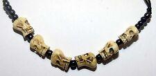 Halsband mit Totenkkopf , Skull , Yak Bone, grösssenverstellbar Nepal