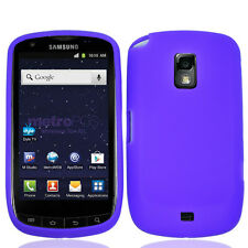 For Samsung Galaxy S Lightray 4G Rubber SILICONE Soft Gel Skin Case Cover Purple