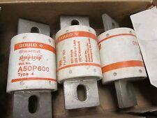 Ferraz Shawmut A50P 600 Amptrap Fuse 600A 500V Lot of 3 New