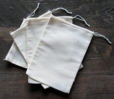 500 (5x7) Cotton Muslin Drawstring Bags Bath Soap Herbs