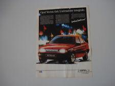 advertising Pubblicità  1989 OPEL VECTRA 4x4