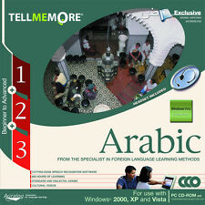 NEW TELL ME MORE ARABIC COURSE PC Level 1 , 2 & 3 Complete set Learn Speak NIB