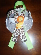 LION BABY SHOWER CORSAGE GIRL SAFARI JUNGLE THEME PARTY MOTHER TO BE GIFT FAVOR