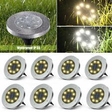 4/8er Set Solar Bodenstrahler Solarlampe Solarleuchte Garten Lampe Außenleuchte
