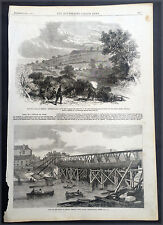 1861 Illustrated London News x 5 Pages Oct 1861 America Civil War - Munsons Hill