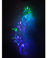 Wind Chimes Solar Light Spinner Color Changing Star Moon Hanging Home Decor