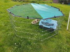 Recinto per conigli e altri animali 143x143x57 con telo solare protettivo