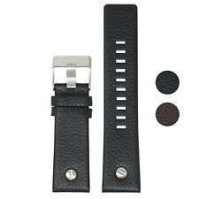 StrapsCo Textured Leather Watch Band Strap w/ Rivet for Diesel