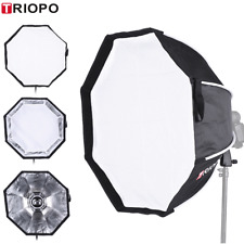 TRIOPO 65cm Foldable Octagon Umbrella Softbox +Handle For Studio Speedlite Flash