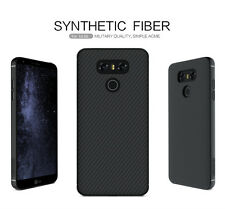For LG G6 Nillkin Synthetic Carbon Fiber SIMPLE Hard Back Matte Cover Case Black