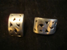 LOIS HILL STERLING SILVER LADIES RECTANGLE EARRINGS