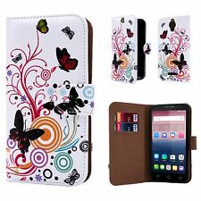 """32nd Design Book PU Leather Case Cover for Alcatel PHONES Screen Protector Colour Butterfly Alcatel Pixi 4 (5.0"""") 4g"""