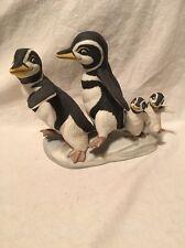 Franklin Mint Walk this Way 1989 Penguin Porcelain Figurine
