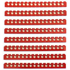 Lego 8x Genuine Technic Bright Red 1x16 Studded Straight Beams - 3703 370321 NEW