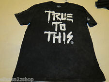 Volcom Stone T shirt Tee TTT True To This XL Custom Wash Men's black surf skate