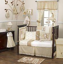 coCalo Baby Bedding Crib Cot Bumpers Lamp - 8 Piece Caramel Kisses