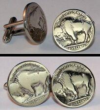 Vintage BISON BUFFALO NICKEL Coin USA New Cufflinks