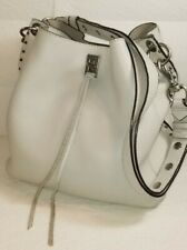 REBECCA MINKOFF Unlined Gray  Convertible Studded  Hobo Shoulder Bag