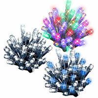 100 LED String Chaser Christmas Lights Flash Festive Tree Window Decoration Xmas