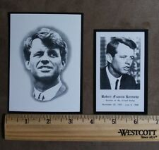 ROBERT F. KENNEDY ORIGINAL FUNERAL PRAYER CARDS (2) LARGE AND SMALL