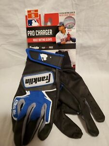 New Pair Adult Franklin 21381F1 Pro Charger Baseball Batting Gloves Blue Size S
