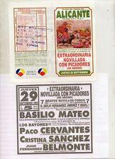 Tauromaquia Programa de Mano Plaza de Alicante año 1994 (DQ-640)