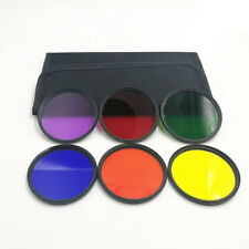 37mm ~ 82mm Red Orange Yellow Purple Blue Green Color Filter Kit for Sony Canon