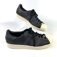 Adidas Originals Mens Superstar 80's Black Leather Mens Size 12.5 BZ0140