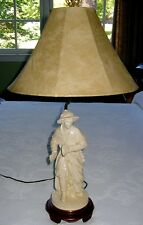 LARGE  CHINESE FIGURE LAMP
