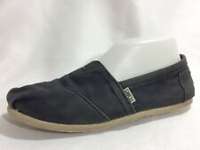 Toms Womens 8 Medium Shoes Navy Blue Canvas Slip On Ballet Flats Loafers Casual