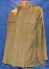 WWII US ARMY/ARMY AIR FORCE OFFICER'S KHAKI WOOL UNIFORM SHIRT SIZE ABOUT A 16
